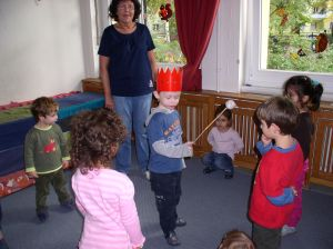 Der Mathekönig - die Kinder lernen zählen